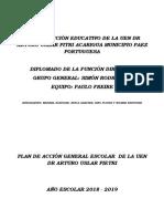 Plan de Acción General de La Uen Dr Arturo Uslar Pietri 2018-2019