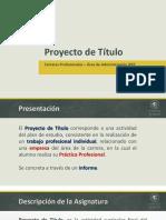 Presentación de Proyecto de Título (Semestre 2)