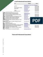 Trade Professional Associations