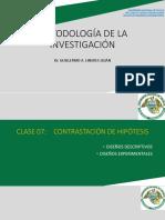CLASE 7 Diseños de Contrastación 2019