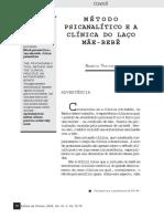Métdo psicanalítico e a clínica do laço mãe bebê Angela Vorcaro.pdf