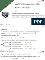 S07-1 Equations Différentielles