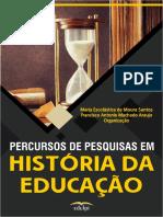 Livro Percursos de Pesquisas Em História Da Educação_e-book