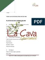 Cotizacion La Cava Gourmet 2019