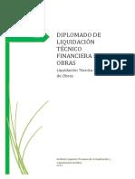 Liquidación Técnico Financiera de Obras