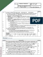 Devoir de contrôle N°1 - Physique - 3ème Info (2009-2010) Mr Jalel Chakroun