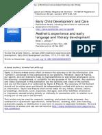 TEXTO 1 JOHNSON experiencia estetica y lenguaje temprano Johnson.pdf
