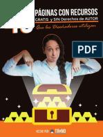 [PDF] 40 Páginas Con Recursos Gratis y Sin Derechos de Autor Que Los Diseñadores Utilizan