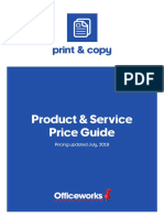Print and Copy Price Guide