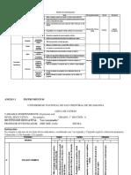 Matriz de Instrumentos e Instrumentos de Recolección de Datos