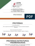 Slide de Genetica II Proteinas-1