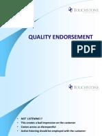 Quality Endorsement