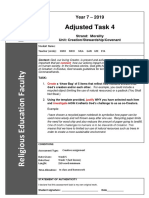 year 7 term 4 adjusted assignment task 2019