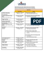 UNIMAS 2019/2020 Academic Calendar