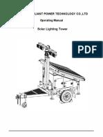 Solar Lighting Tower Manual