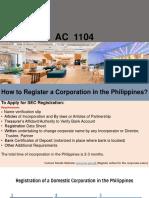 Corporate Registration