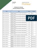 Listado e Books Thomson Reuters ProView Derecho UBA