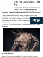Ultimate Guide for Lean Gains, Part 1