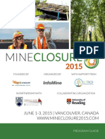 PROGRAM for Mine Closure 2015