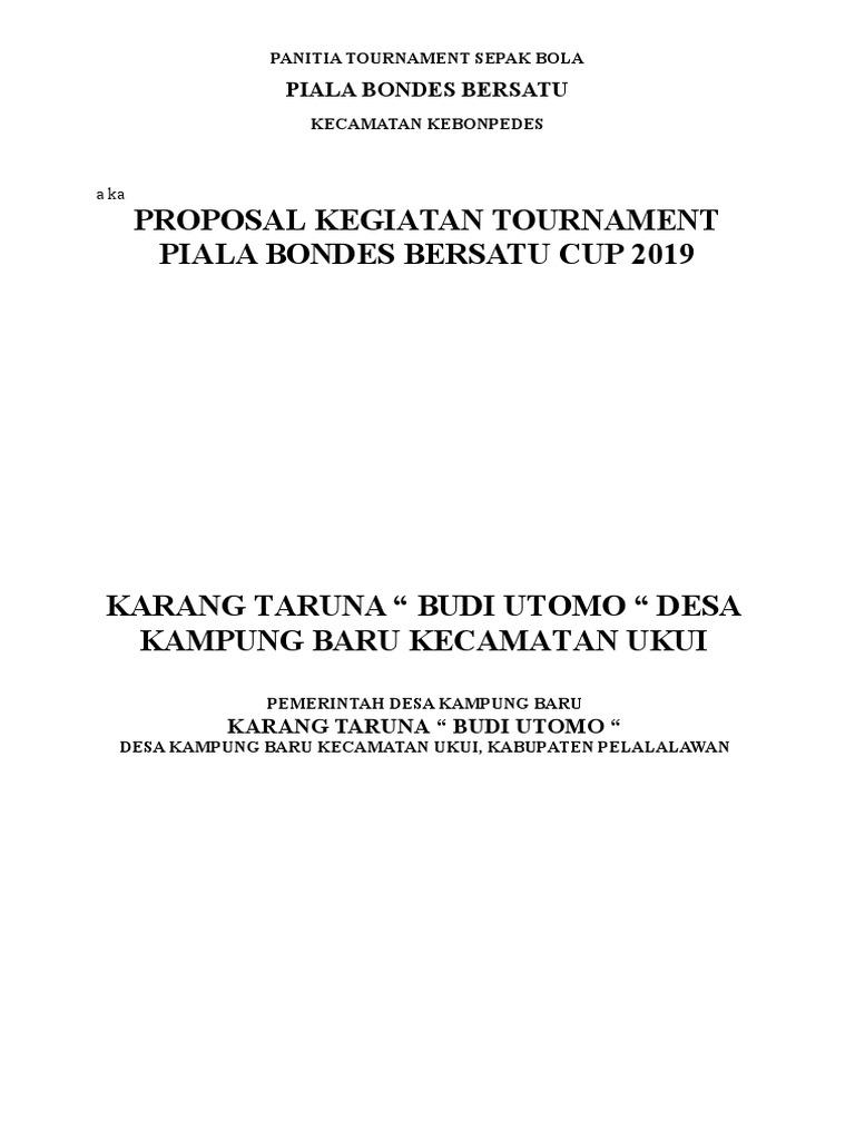 Proposal Turnamen Sepak Bola Doc