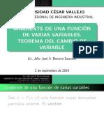 Gradiente de Una Función. Teorema Del Cambio de Variable