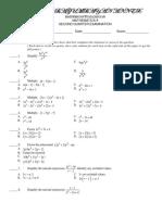 246820616 2nd Quarter Exam Math 8