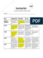 october sda reflection rubric