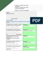 Questionário - Avaliando Plano de Contas e Escrituração