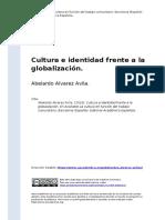 Abelardo Alvarez Avila. (2016). Cultura e identidad  frente a la globalizacion.pdf