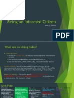 being an informed citizen- themes