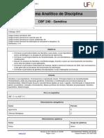 Programa Analitico Gentica