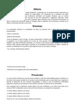 Informacion Difteria