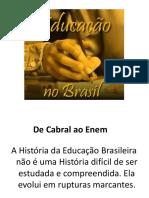 Apresentação HISTÓRIA DA EDUCAÇÃO