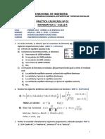 Primera Práctica Calificada de Matemática 1 de la Universidad Nacional de Ingeniería