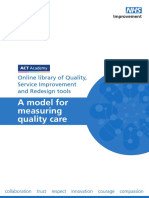 Model for Measuring Quality Care (Paper, 20191104450B)