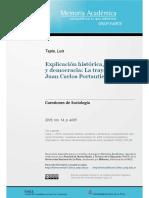 Tapia_Explciación histórica, socialismo y democracia la trayectoria de JC Portantiero
