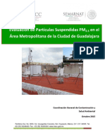 Evaluación de Partículas Suspendidas PM2.5 en el Área Metropolitana de la Ciudad de Guadalajara