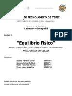 """PRACTICA 2 """"Equilibrio Físico"""""""