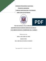Maestria en Educacion en Ciencias Naturales Con Orientacion en La Ensenanza de La Quimica