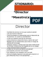 Cuestionario Direc y Mtro