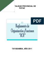 PLAN 12103 ROF (Reglamento de Organización y Funciones) 2012