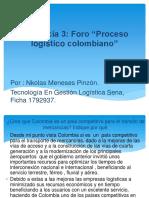 Evidencia 3 Proceso Logístico Colombiano