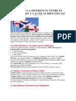 Cuál Es La Diferencia Entre El Reino Unido y Las Islas Británicas