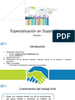 Especialización en Supply Chain - Clase 1+2