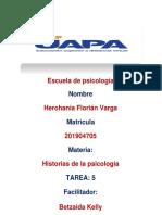 TAREA 5 HISORIA DE LA PSICOLOGIA