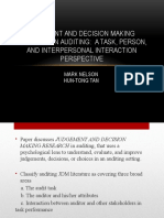 Judgment and Decision Making Research in Auditing