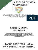 Salud Mental Saludable