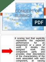 Concept of Rubrics