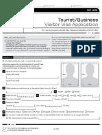 Contoh Form Visa