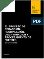 El Proceso de Redaccion .Recopilacion.discrimiancion y Procesamiento de Fuentes (1)